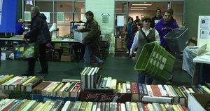 Picture of Book Sale Opening Day